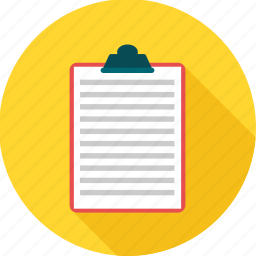 board, clipboard, document, page, paper, report, sheet icon