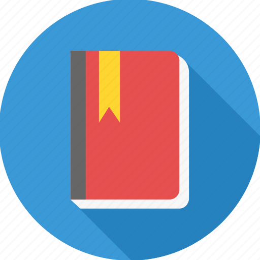 address, book, bookmark, education, notebook, register icon