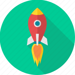 business, launch, misille, rocket, space, spaceship, startup icon