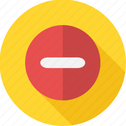 delete, mark, minus, remove, sign, trash icon