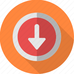 arrow, down, download, downward, mark, sign icon