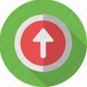 arrow, mark, sign, up, upload, uploading, upward icon