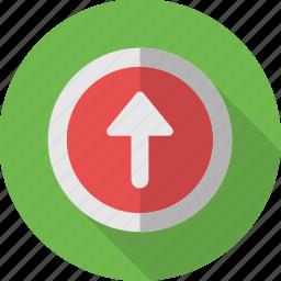 arrow, mark, sign, up, upload, uploading, upward icon