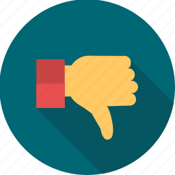 cancel, deny, dislike, no, refuse, thumb, thumbs dowm icon
