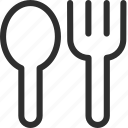 25px, fork, iconspace, spoon