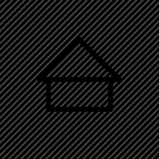 building, home, screen icon