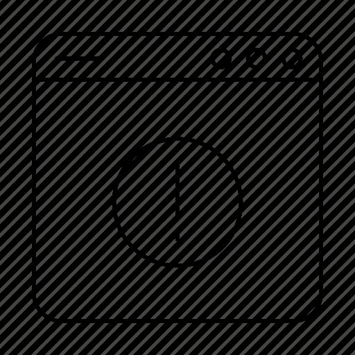 Alert, interface, thin, ui, user, user interface, warning icon - Download on Iconfinder