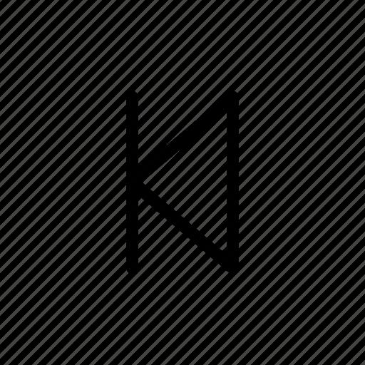 back, begin, previous, user interface icon