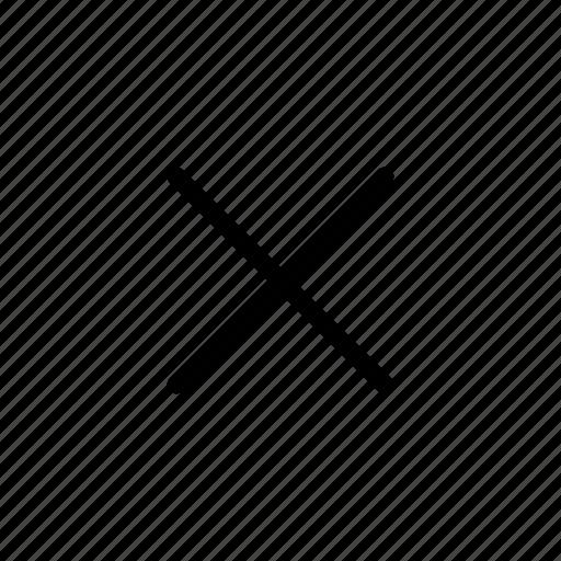 close, cross, user interface icon