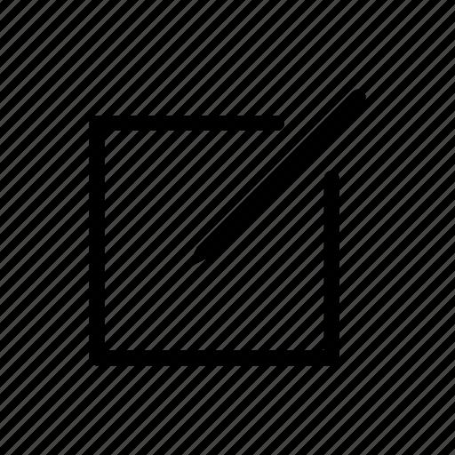 edit, new, user interface, write icon