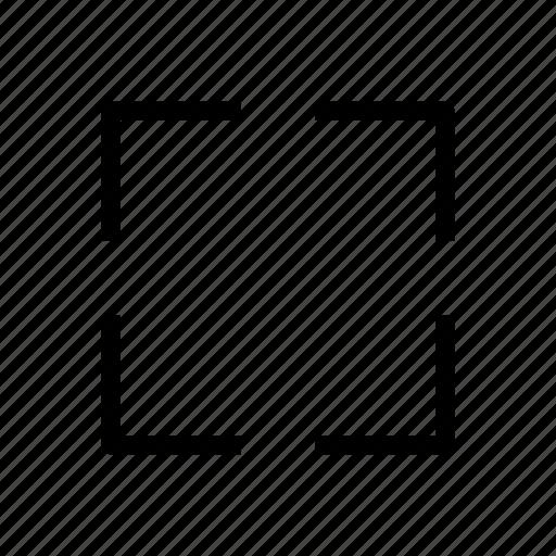 expand, fullscreen, user interface icon