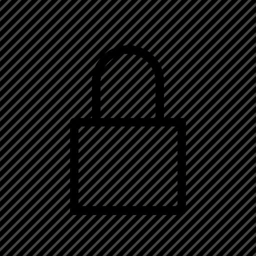 lock, locked, user interface icon