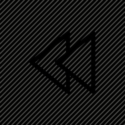 backward, music, skip, user interface icon