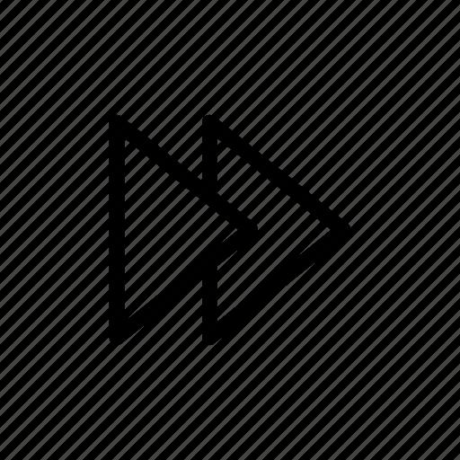 forward, music, skip, user interface icon