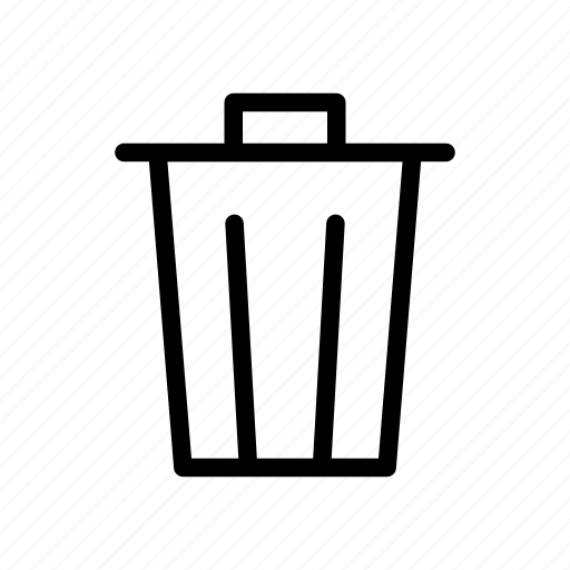 bin, delete, trash, user interface icon