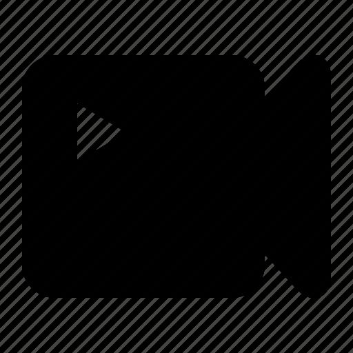 clip, film, interface, movie, solid, user, video icon