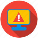 application, danger, monitor, program, screen, virus icon
