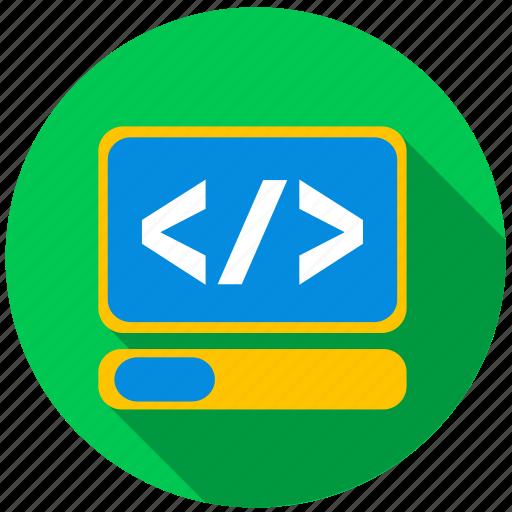 application, html, monitor, program, screen, website icon