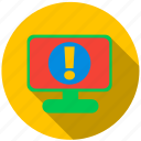 application, danger, info, monitor, program, screen icon