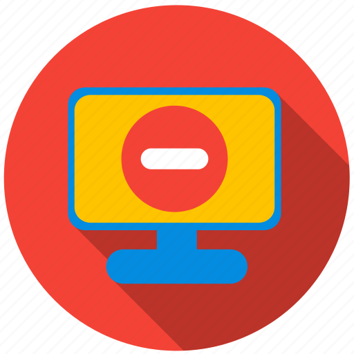 application, cancel, danger, monitor, program, screen icon
