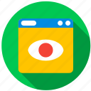 application, camera, danger, monitor, program, screen icon