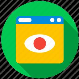 application, camera, danger, monitor, program, screen icon