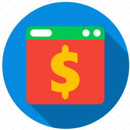 application, cash, danger, monitor, program, screen icon