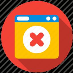 application, danger, delete, monitor, program, screen icon