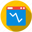appraisal, chart, graph, points, value, variables icon