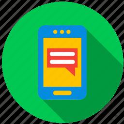 application, messeng, monitor, phone, program, screen icon