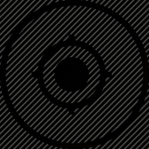 circle, fix, interface, mission, shoot, target, ui icon
