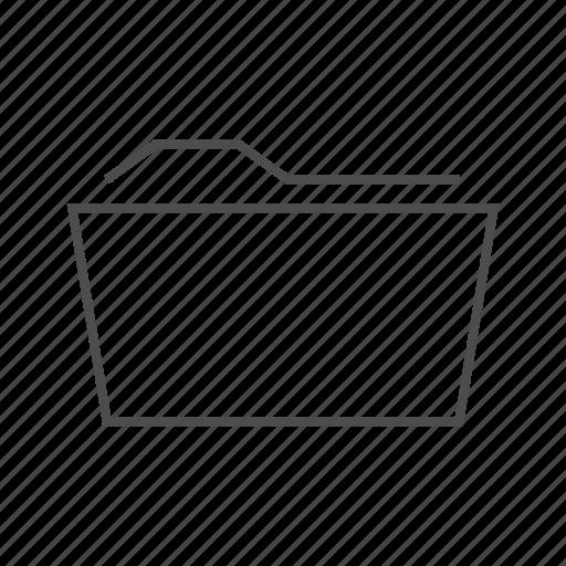 document, file, folder, open file, open folder, open folder fine line, organise icon