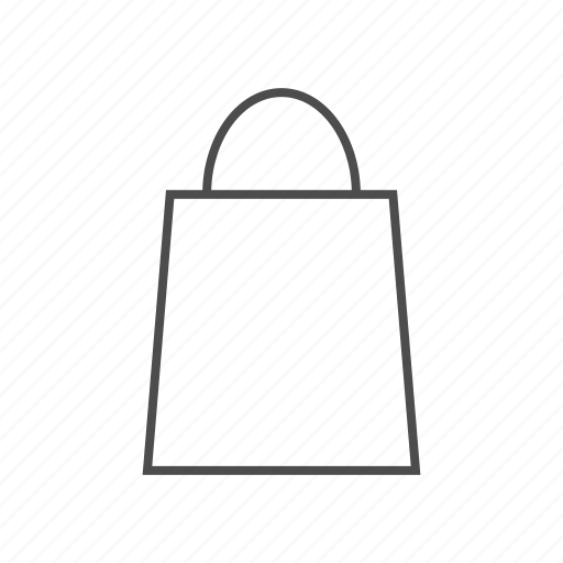 grocery, online shopping, shop, shopping, shopping bag, shopping fine line icon