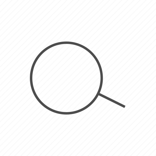 find out, look for, magnifying glass, magnifying glass fine line, research, search, search fine line icon
