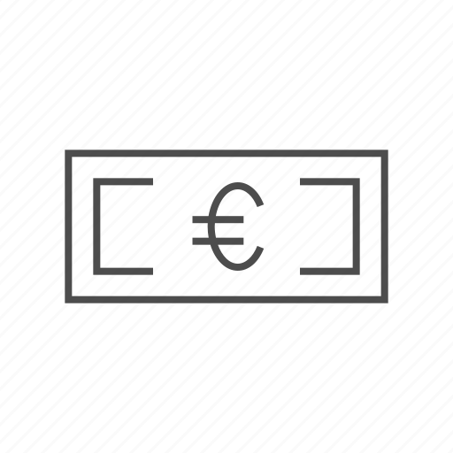 bill, cash, euro, euro banknote, euro currency, euro fine line, money icon