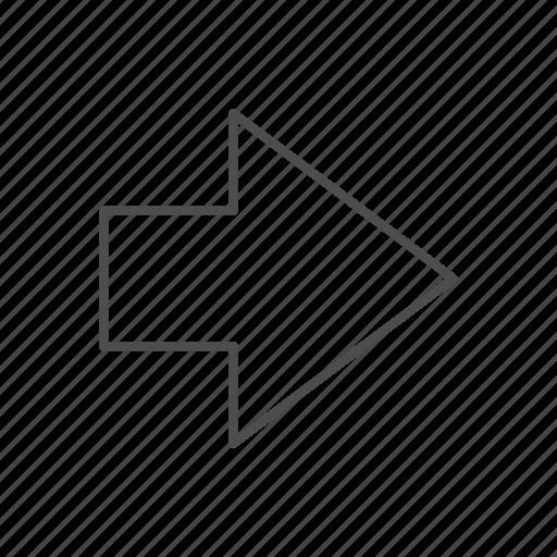 arrow, direction, fine line arrow, movement, right arrow, right fine line arrow icon