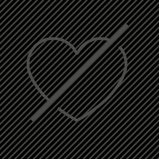 dislike, unfriend, unheart, unlike icon