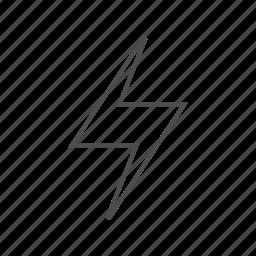 battery, bolt, bolt fine line, energy, energy fine line, life, power icon