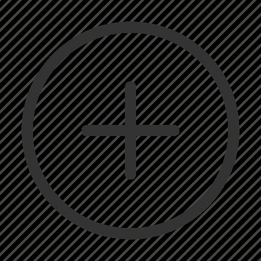 add, circular, plus, ui icon