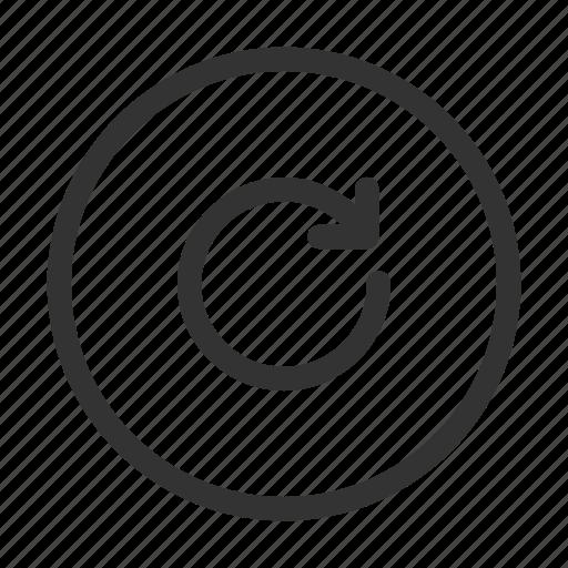 arrow, circular, refresh, rotate, rotate right, ui icon