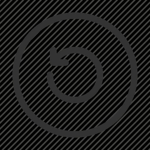 arrow, circular, refresh, rotate, rotate left, ui icon