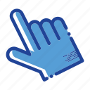 click, finger, gesture, hand, push icon icon