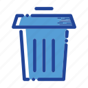 bin, delete, remove, trash, trash icon icon