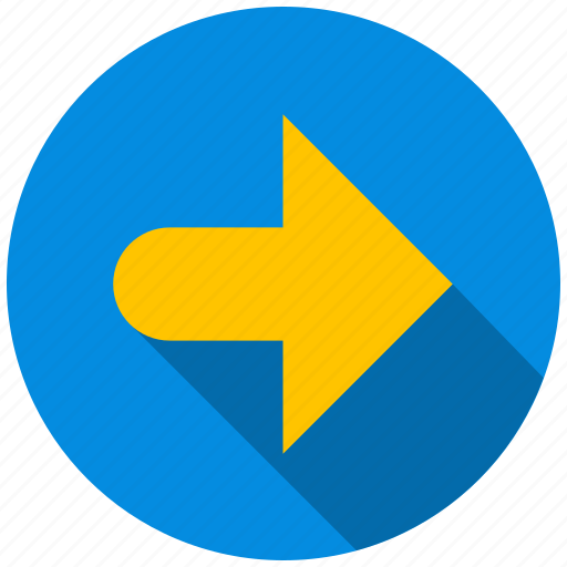 arrow, destination, direction, next, right, travel icon