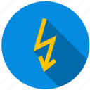 ampere, energy, lightning, shock, volt, voltage icon