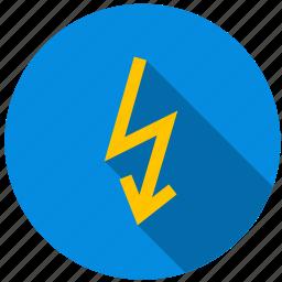ampere, energy, lightning, shock, volt, voltage icon