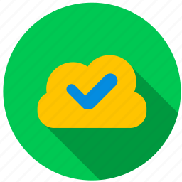 accept, cloud, data, directory, file, information icon
