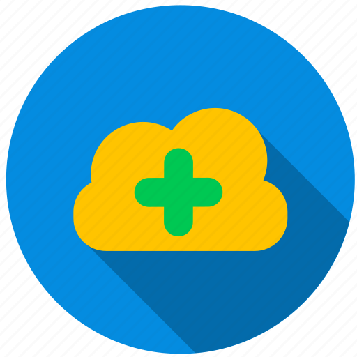 add, cloud, data, directory, file, information icon