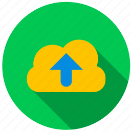 cloud, data, directory, file, information, upload icon