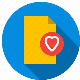 content, data, document, file, information, love icon